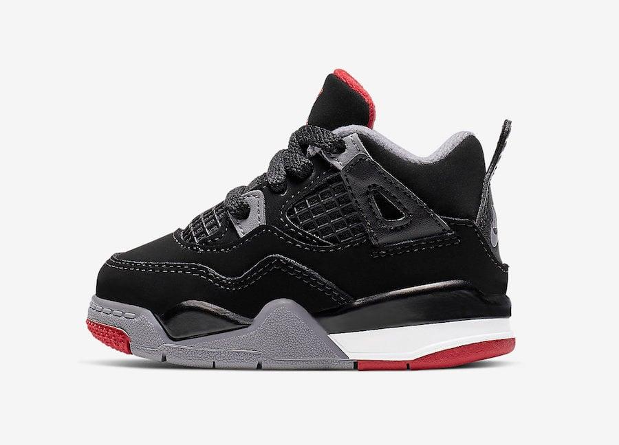d0a9453d6ab Nike Air Jordan 4 Bred Black Red 2019 Release Date