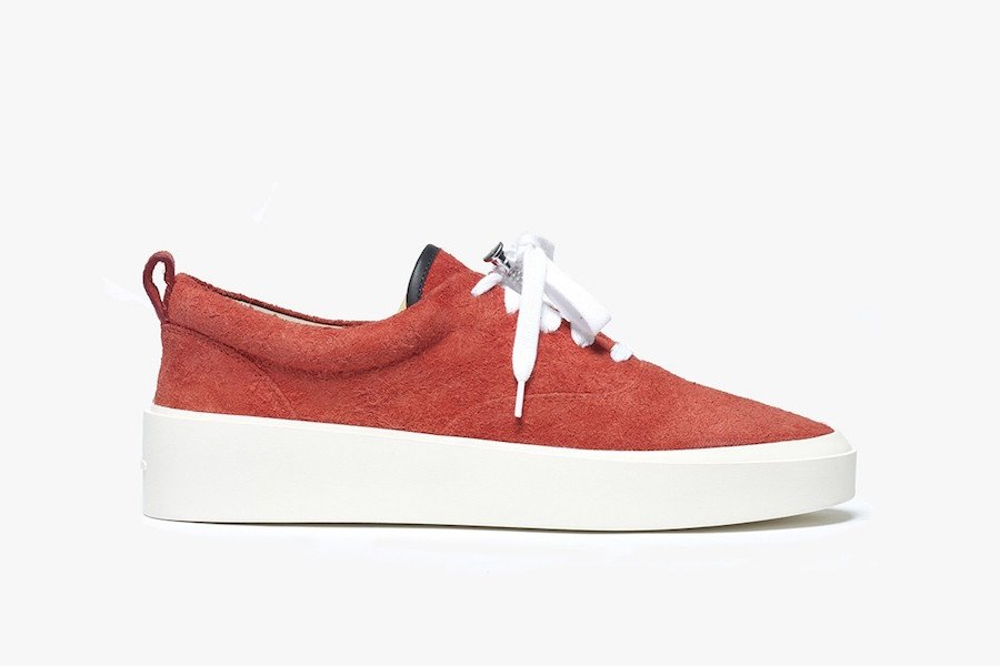 Fear of God Lace Up Red Suede