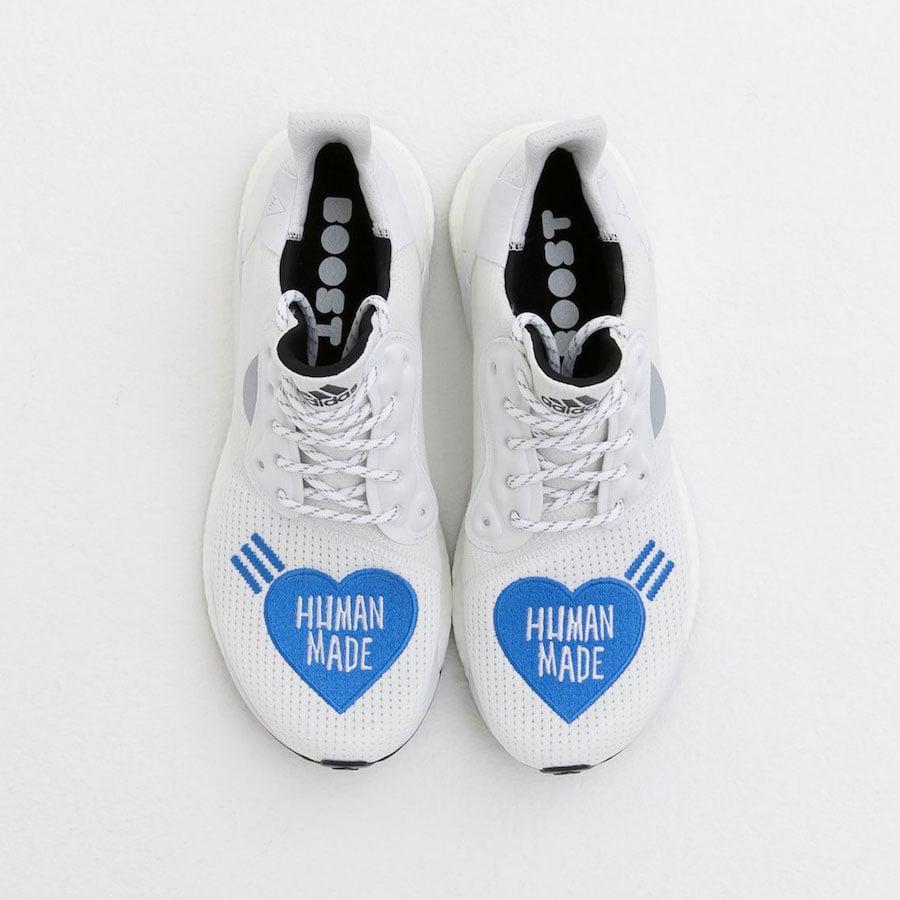 Human Made adidas Solar Hu Glide White Blue Release Info