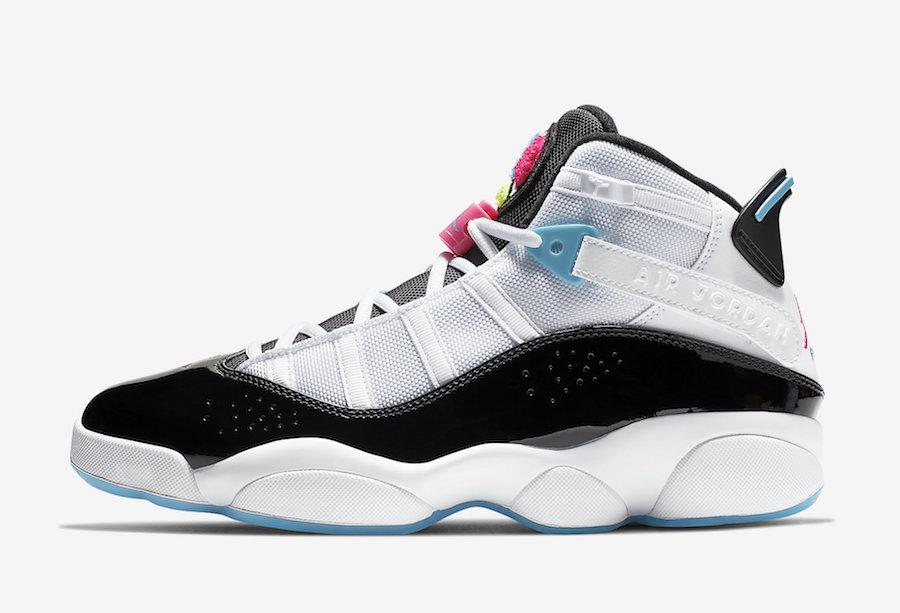Jordan 6 Rings White Hyper Pink Light Blue Fury CK0017-100 Release Info