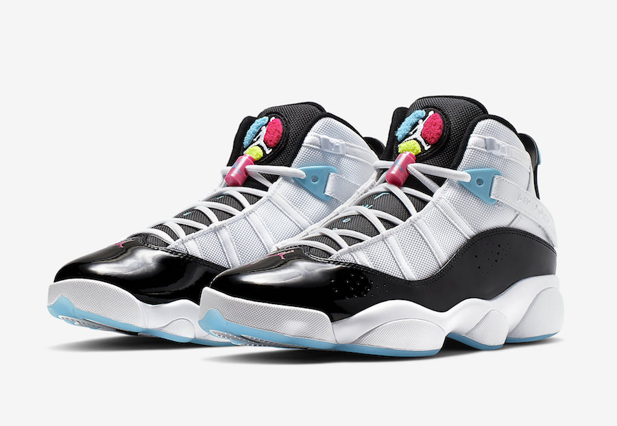 Jordan 6 Rings White Hyper Pink Light Blue Fury Ck0017 100