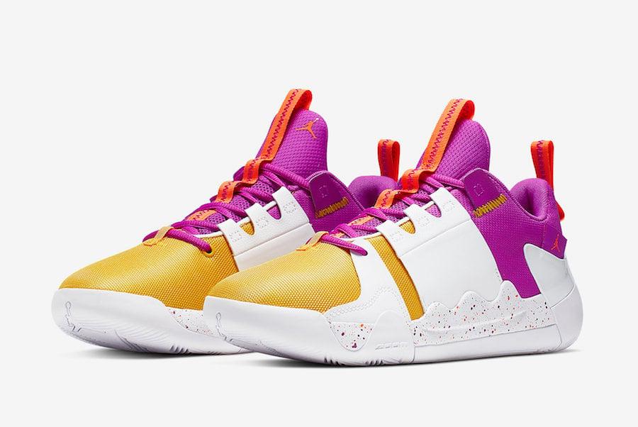 Jordan Zero Gravity Amarillo Yellow Bright Purple AT4030-157 Release Info