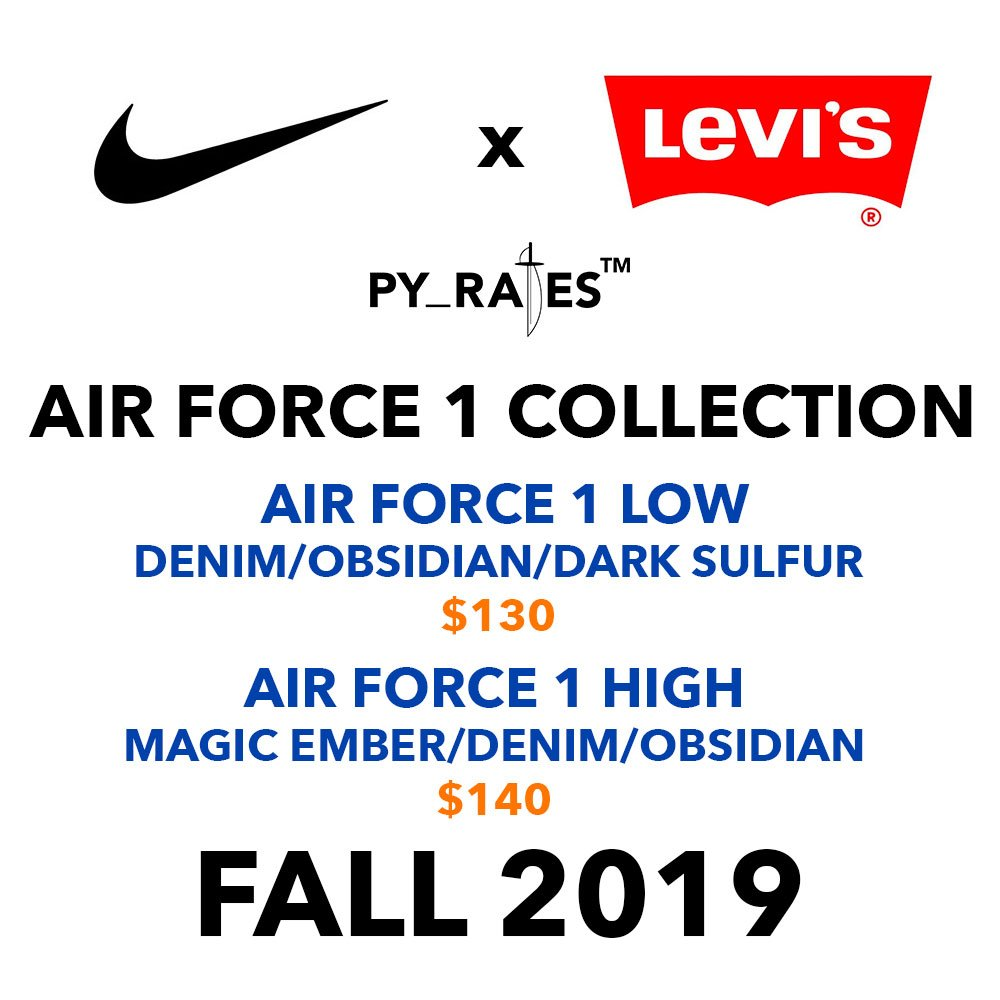 Levis Nike Air Force 1 Collection Release Info