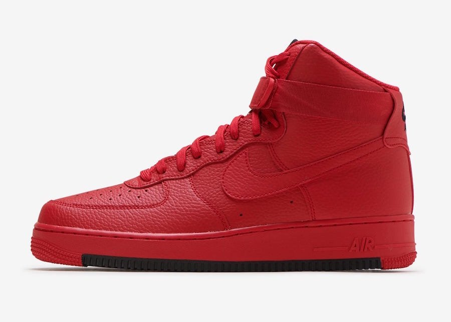 new product 3df9c e00de Nike Air Force 1 High University Red AO2440-600 Release Date