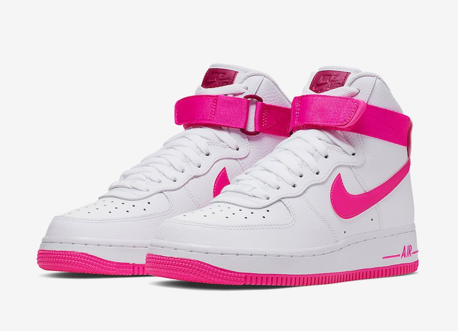 Nike Air Force 1 High White True Berry Laser Fuchsia 334031-110 Release Info