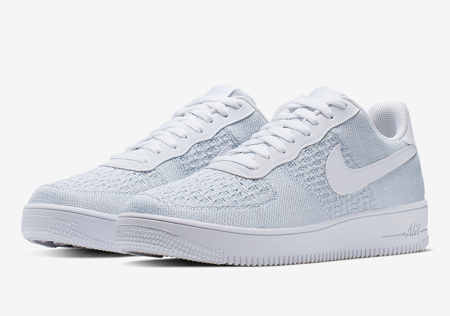 Nike Air Force 1 Low Flyknit White Pure Platinum AV3042-100