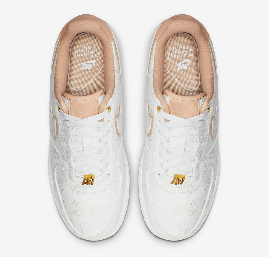 Nike Air Force 1 Lux White Metallic Gold Bio Beige 898889-102 Release Info