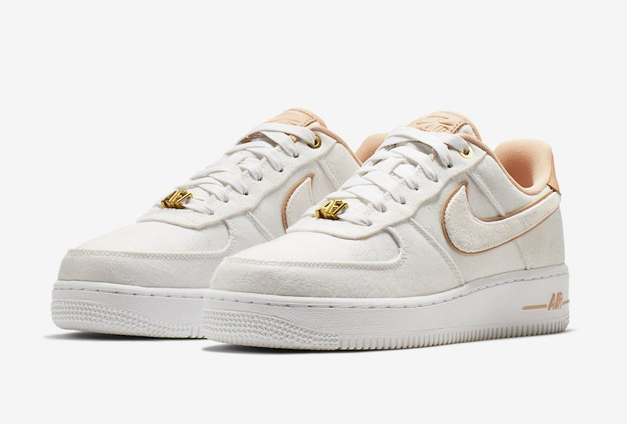 5511fa0f98 Nike Air Force 1 Lux White Metallic Gold Bio Beige 898889-102 Release Info