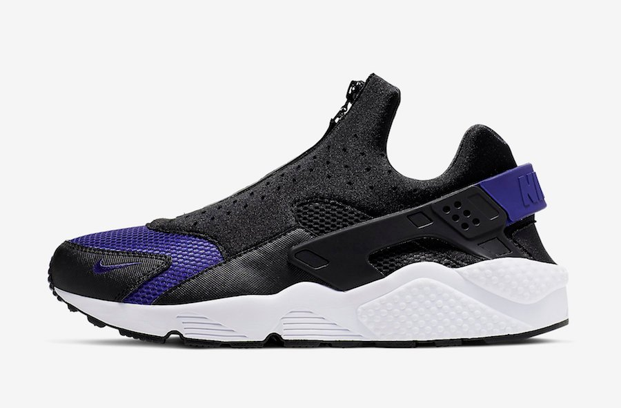 huge selection of 45105 350ac Nike Air Huarache Run EXT Zip Black Game Royal CI0009-002 Release Date
