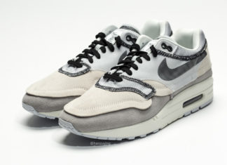 c4cb4a2f8c45 Detailed Look at the Nike Air Max 1  Inside Out  in Light Grey