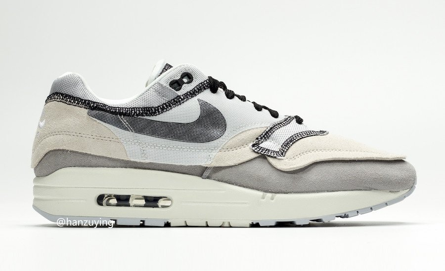 Nike Air Max 1 Inside Out Light Grey 858876-013 Release Details