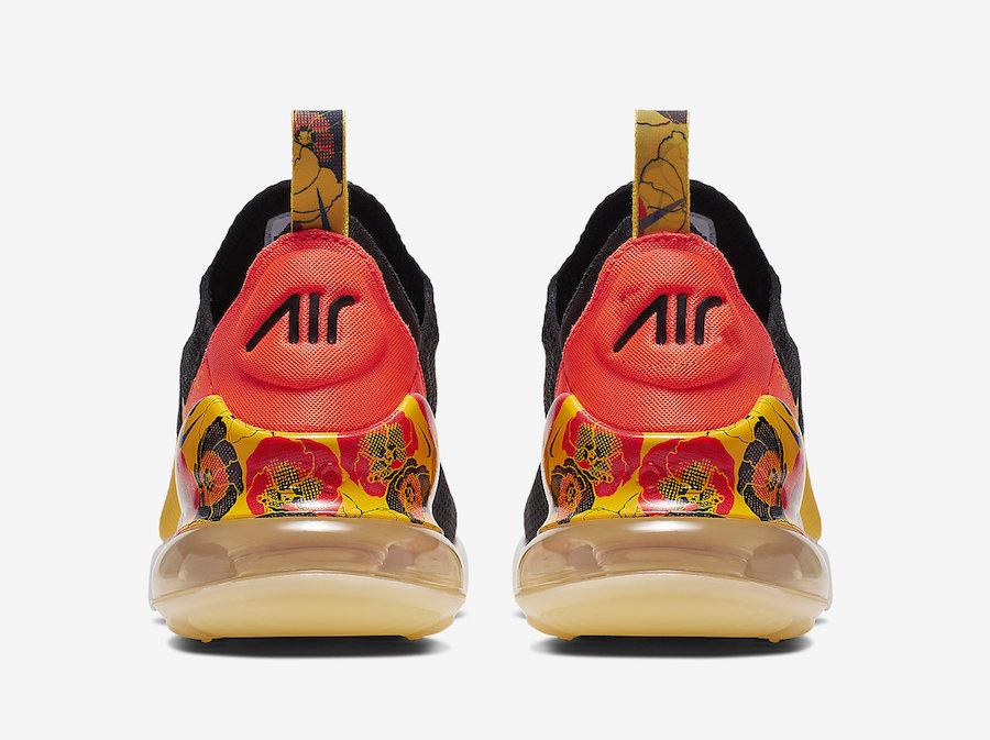 Nike Air Max 270 Black University Gold Bright Crimson AR0499-005 Release Date