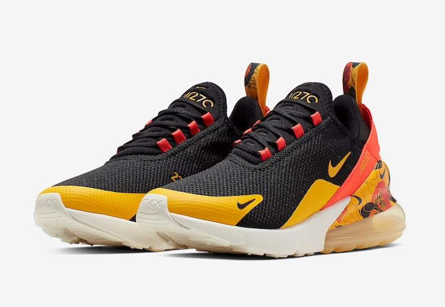 size 40 0e54d 85559 Nike Air Max 270 Black University Gold Bright Crimson AR0499-005 Release  Date