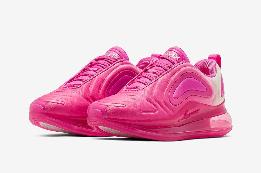womens nike air max 720 white/pink rise/laser fuchsia