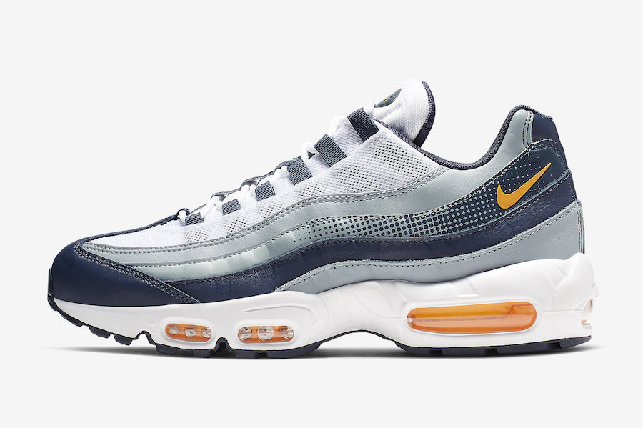 Nike Air Max 95 Midnight Navy Laser Orange AJ2018-401 Release Date