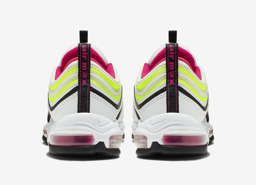 Nike Air Max 97 White Rush Pink Black Volt CI9871-100 Release Info