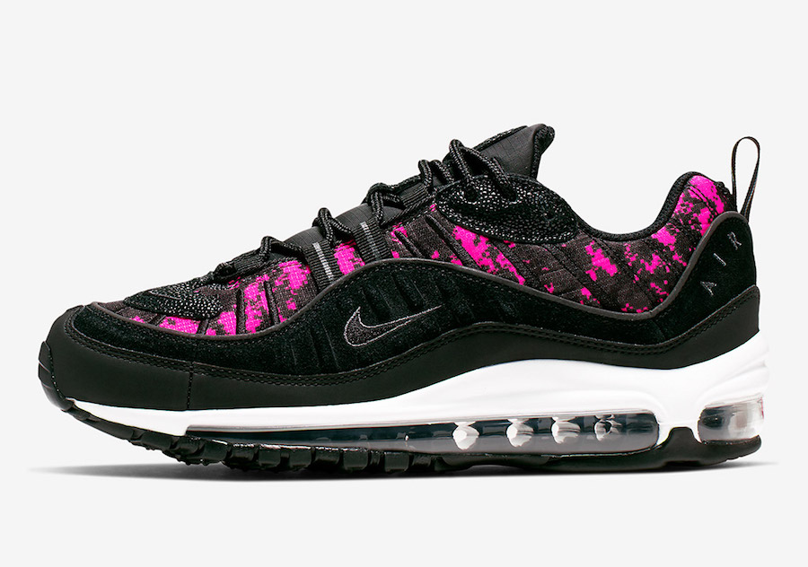 Nike Air Max 98 Pixel Black Hyper Pink CI2672-001 Release Info