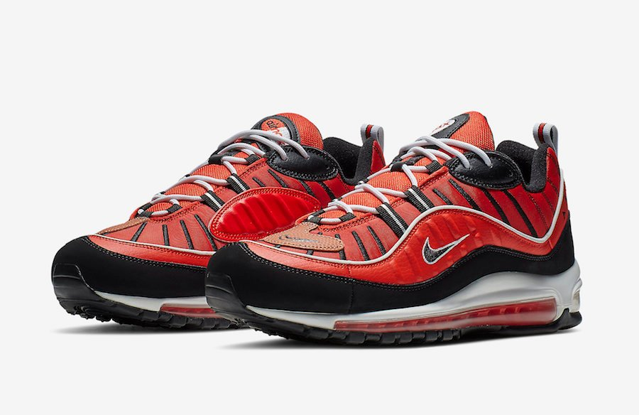 quality design 88925 bc7b3 Nike Air Max 98 Red Black 640744-604 Release Date