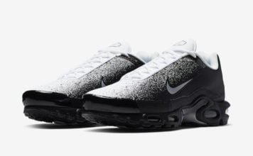 new style 62eb0 f042a Nike Air Max Plus in Black and White Inspired by Spray Paint
