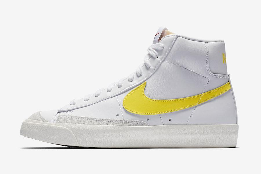 Nike Blazer Mid 77 Vintage White Opti Yellow BQ6806-101 Release Info