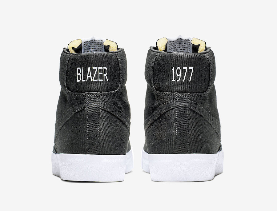 Nike Blazer Mid Black Canvas CD8238-001 Release Date