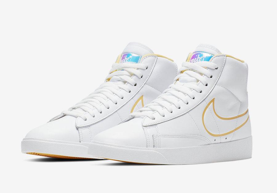 Nike Blazer Mid White Topaz Gold CJ3643-100 Release Info