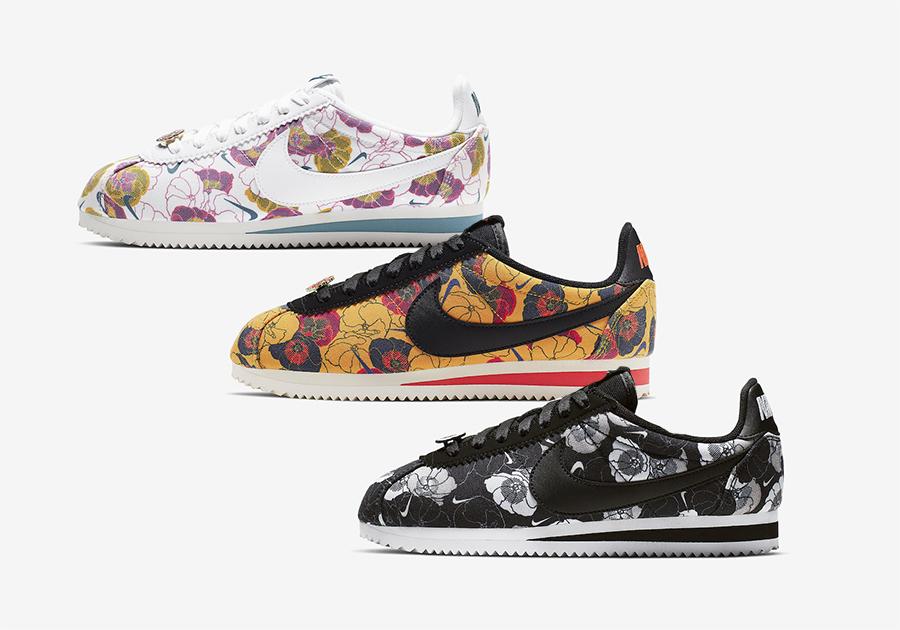new products 335ed 5c822 Nike Cortez Floral AV1338-001 AV1338-100 AV1338-700 Release ...