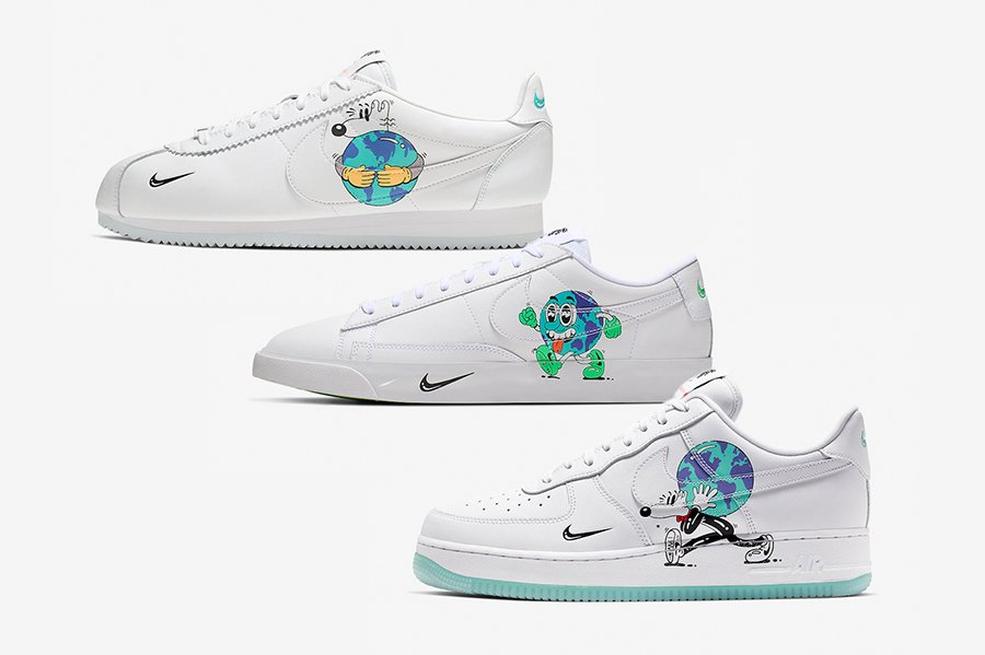 Nike Earth Day Cortez Blazer Low Air Force 1 Collection Release ...