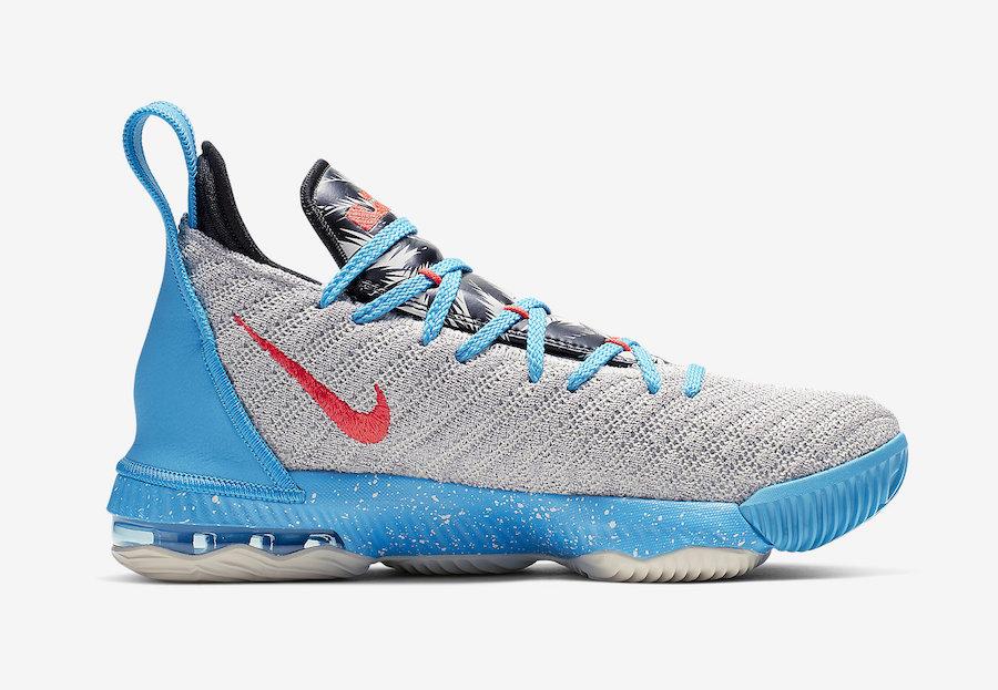 Nike LeBron 16 Kids Palm Trees AQ2465-076 Release Details