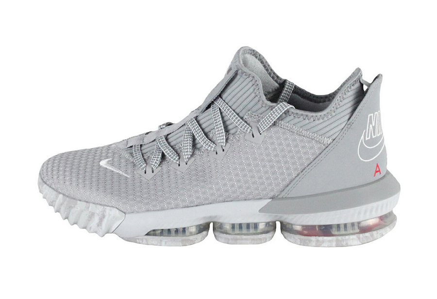 Nike LeBron 16 Low Wolf Grey University Red CI2668-003 Release Info