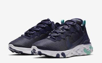Nike React Element 55 Dark Obsidian CI2678-400 Release Date