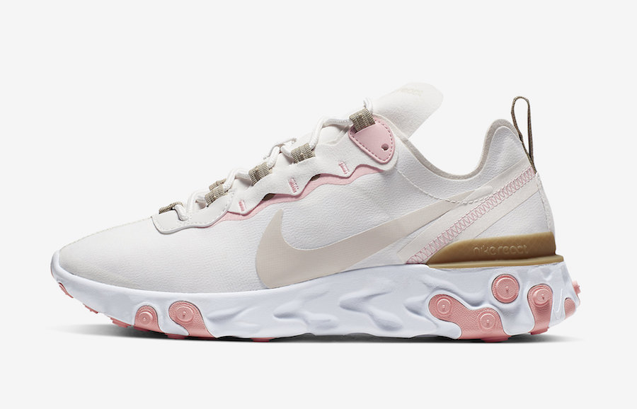 Nike React Element 55 Phantom Light Orewood Parachute Beige BQ2728-007 Release Info