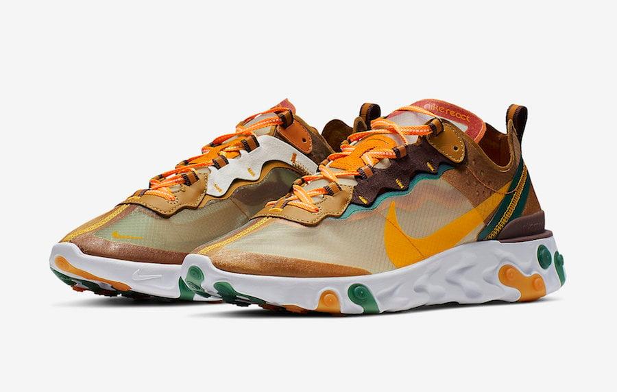 Nike React Element 87 Orange Peel CJ6897-113 Release Date ...