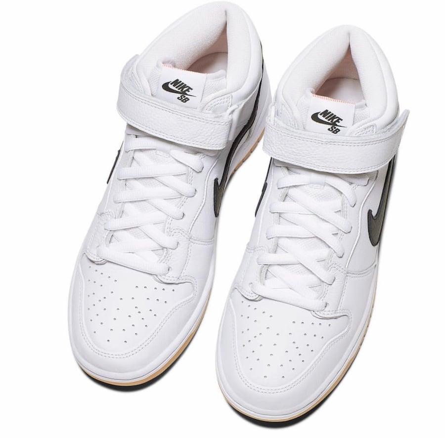 Nike SB Dunk Mid Orange Label White Gum Release Info