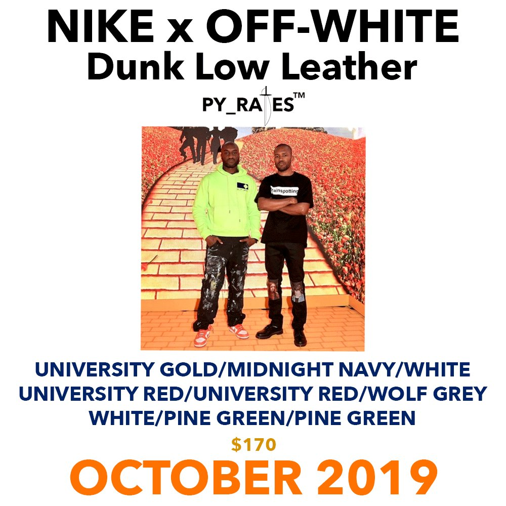 Off-White Nike Dunk Low Leather Release Date