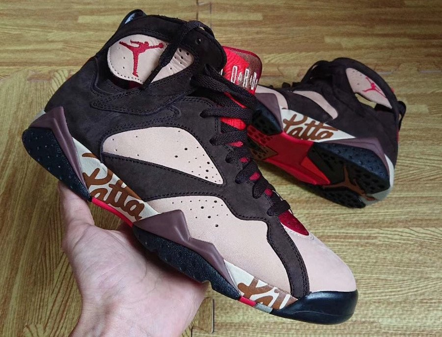 Patta Air Jordan 7 AT3375-200 2019 Release Information