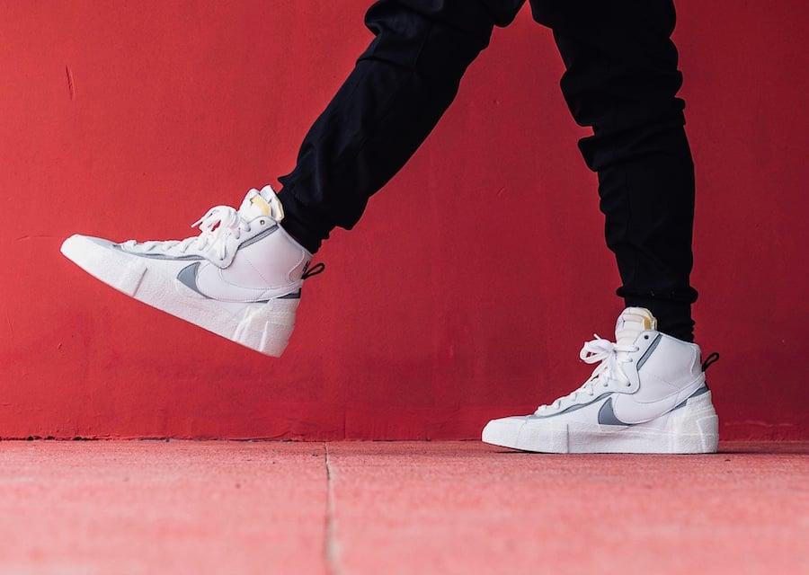 Sacai Nike Blazer Mid White Wolf Grey BV8072-100 Release Date Info