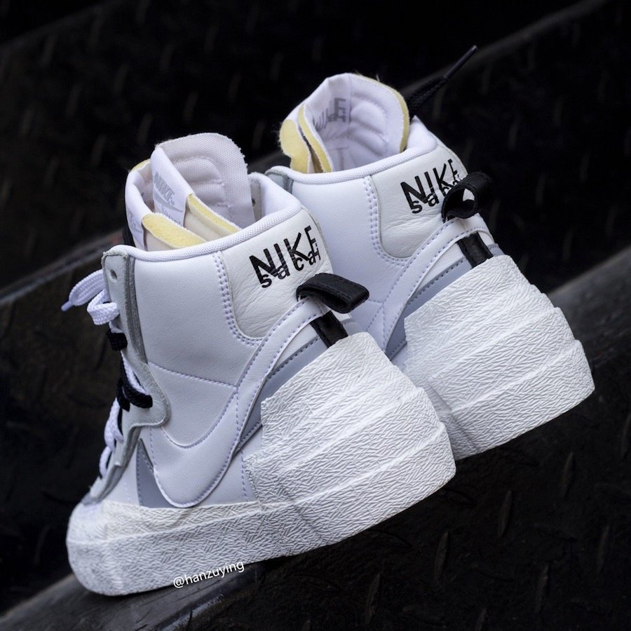 Sacai Nike Blazer Mid White Wolf Grey BV8072-100 Release Date