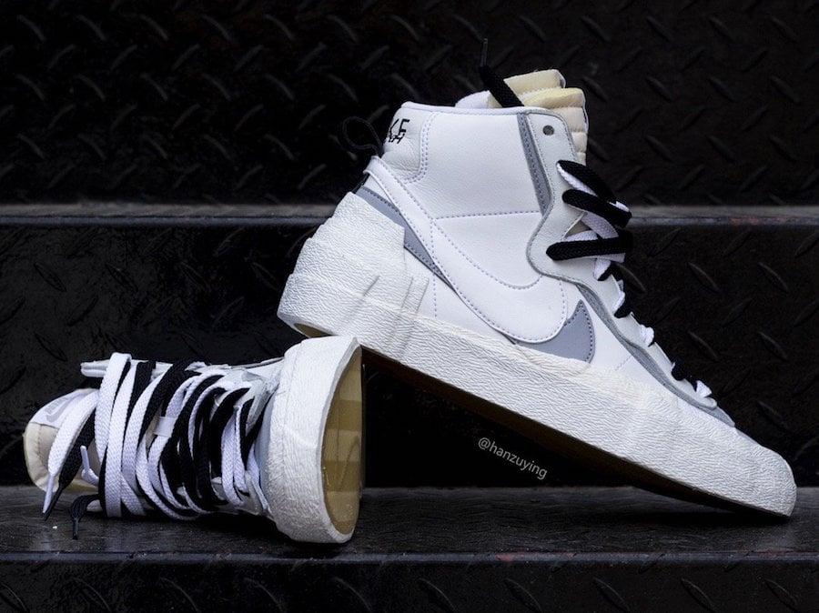 huge discount 94c79 6a431 Sacai Nike Blazer Mid White Wolf Grey BV8072-100 Release Date