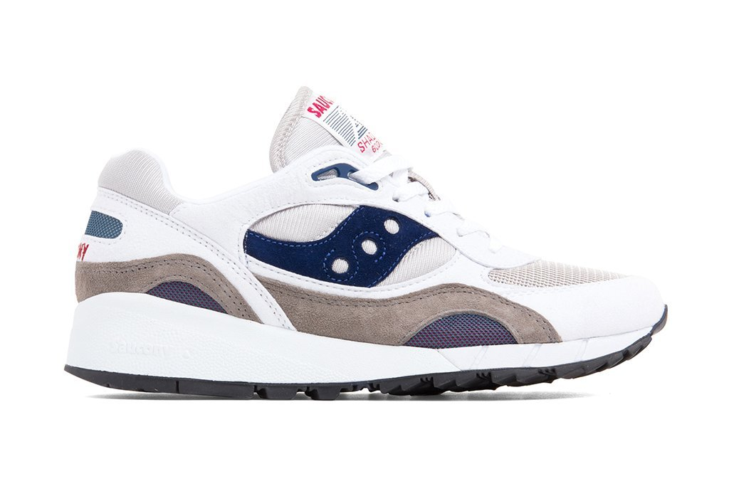 Saucony Shadow 6000 White Grey Navy