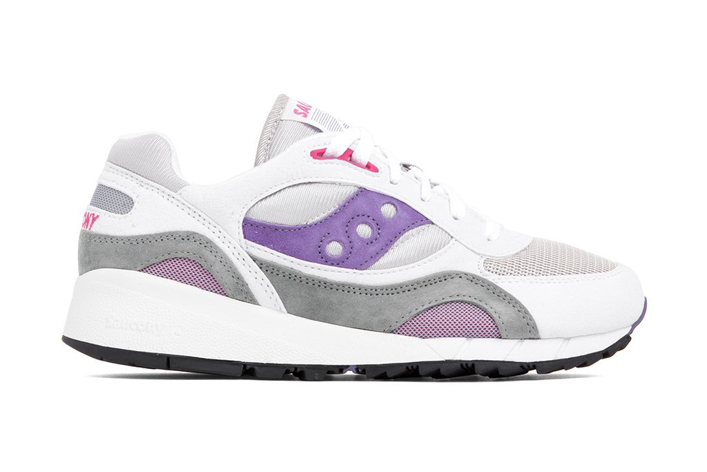Saucony Shadow 6000 White Grey Purple