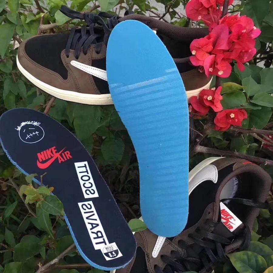 Travis Scott Air Jordan 1 Low Black Dark Mocha University Red CQ4277-001 Release Date