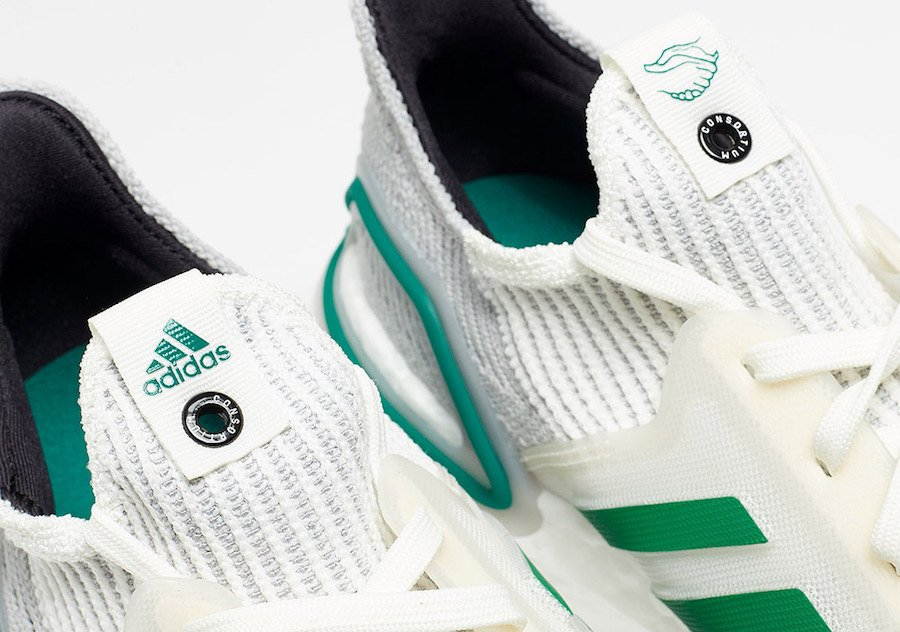 adidas Consortium Ultra Boost 2019 White Green EE7517 Release Info