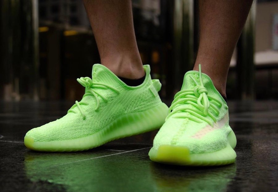 adidas Yeezy Boost 350 V2 Glow EG5293 On Feet