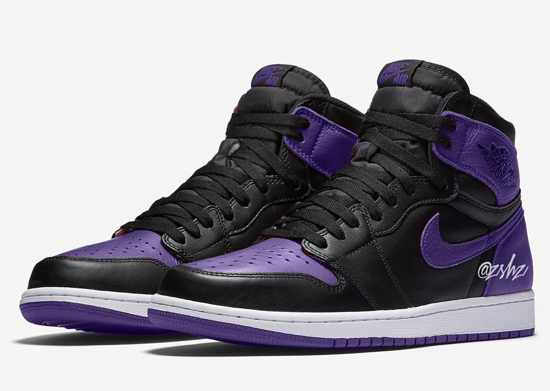 Air Jordan 1 Black Purple Bred Blocking 2020 Release Date