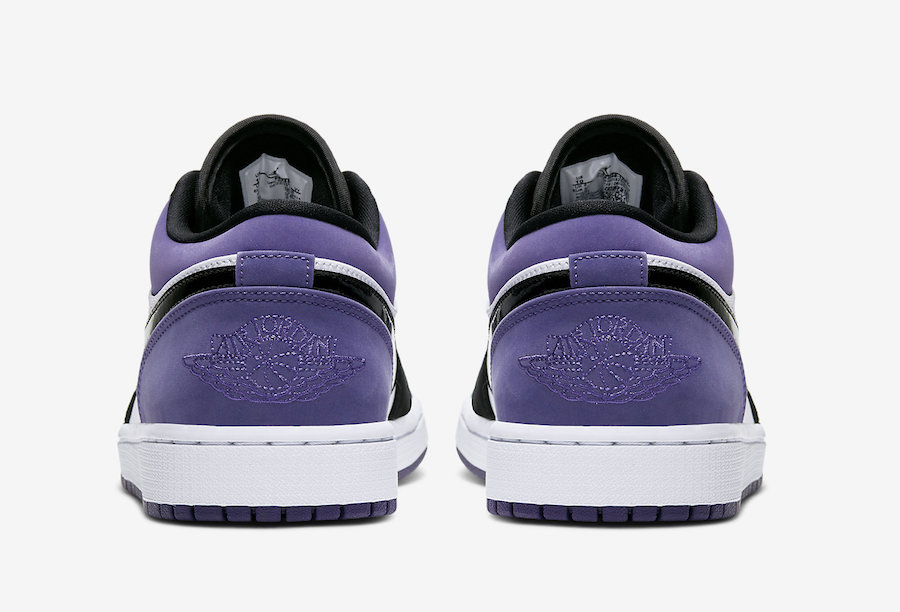 Air Jordan 1 Low Court Purple 553558-125 Release Date