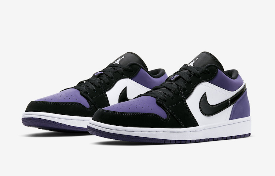 Air Jordan 1 Low Court Purple 553558-125 Release Info | SneakerFiles