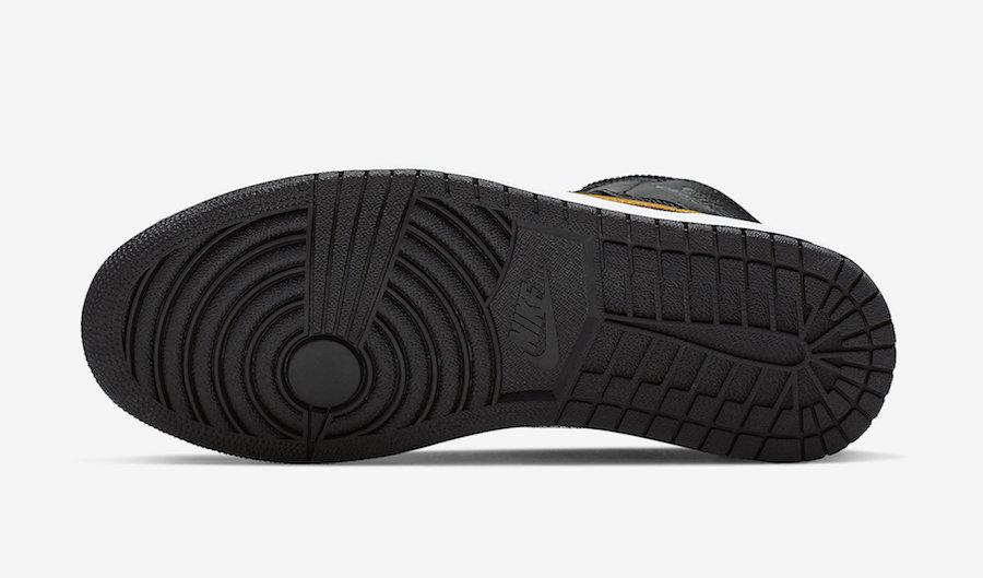 Air Jordan 1 Mid Black University Gold CI9352-001 Release Info