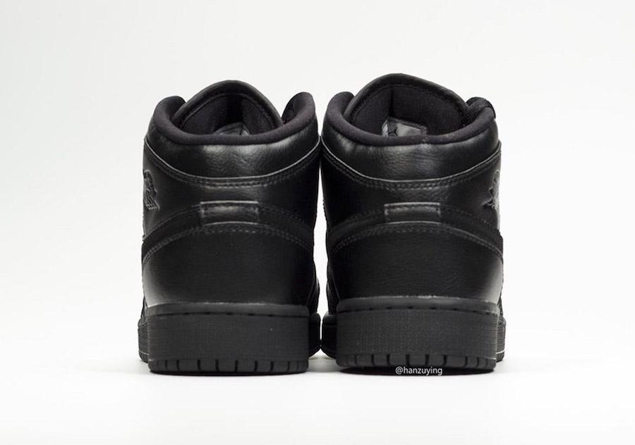 Air Jordan 1 Mid Deep Black 554725-090 Release Info