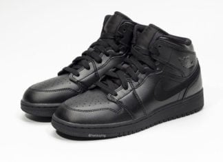 Air Jordan 1 Mid Deep Black 554725-090 Release Info